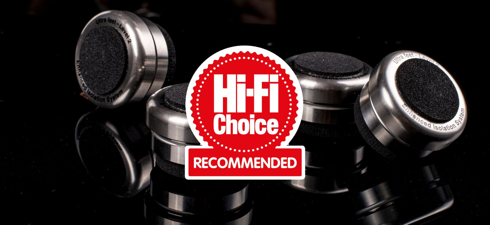 Bassocontinuo Ultra Feet (Level 2) awarded a 'Recommended' badge from Hi-Fi Choice