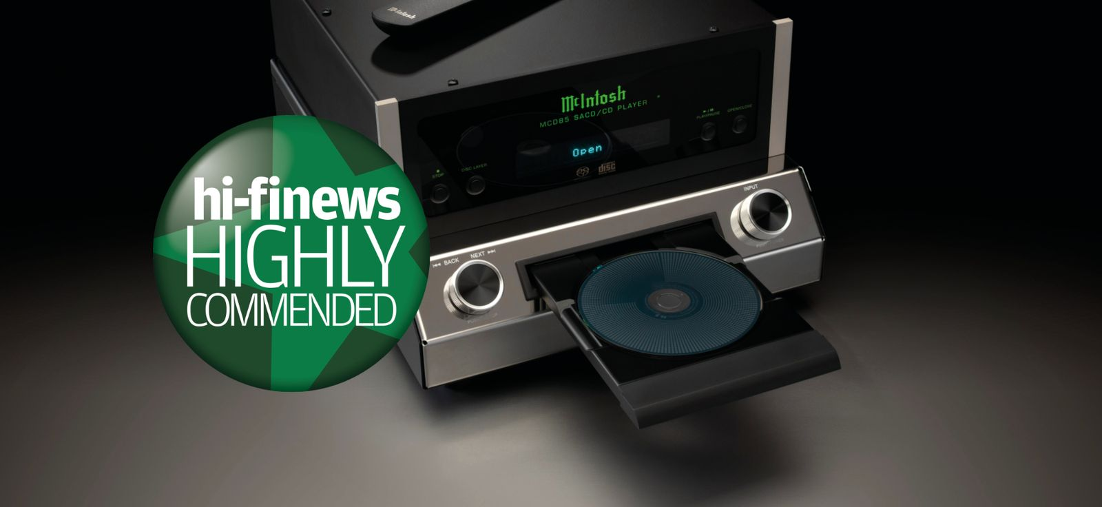 """Hi-Fi News reviews the new McIntosh MCD85 CD/SACD player and says it's """"a persuasive way of doing what it sets out to achieve"""""""